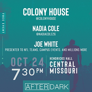 Colony House - Nadia Cole - Joe White AfterDark Free Event