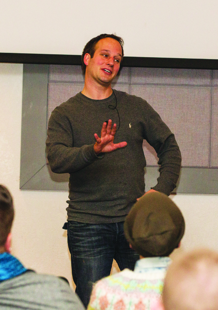 Capt. Chris Plekenpol spoke to student veterans Tuesday night about struggling with PTSD and how to use faith to cope with their anxiety. (Photo by ANDREW MATHER, Photo Editor)
