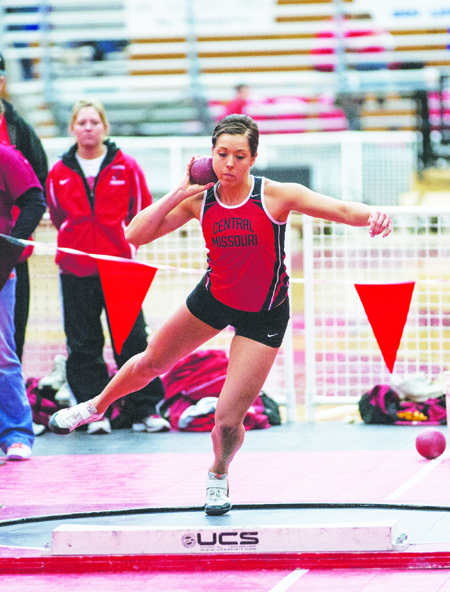 Junior Erin Alewine and the UCM track and field teams will compete in the UCM invite Friday. (Photo by ANDREW MATHER, Photo Editor)