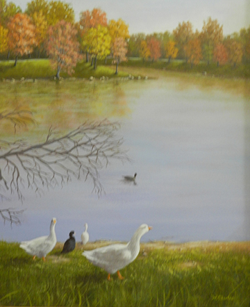 (Courtesy photo) MMA member Willis Charles captures the beauty of Lions Lake in oil.