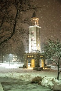 (Photo courtesy Andrew Mather) UCM's Maastricht Friendship Tower the night of Monday, Feb. 25.