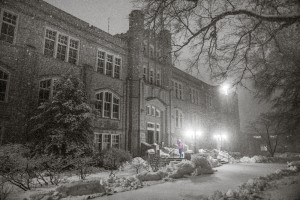 (Photo courtesy Andrew Mather) UCM's Administration building welcomes round two.