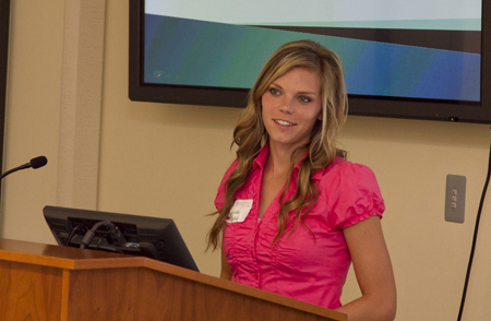 Nicole Arnold presented at last year's scholarship symposium and said she gained confidence to speak in front of others. (Photo submitted)