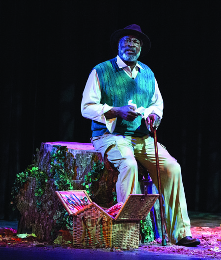 John Amos plays an 87-year-old man who reflects on years of family America's history, personal tragedy and hope for the future. (Photo by ANDREW MATHER, Photo Editor)