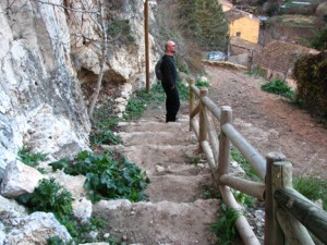 (Courtesy photo) Walking the rugged ancient paths.