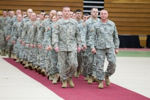 Mo. National Guard sendoff at UCM's Multipurpose Building.(Photo by ANDREW MATHER, photo editor)