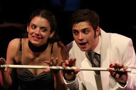 """Aaron Markarian performs with Nicole Hall in UCM's production of """"Side by Side"""" by Sondheim during his senior year of high school in November 2007."""