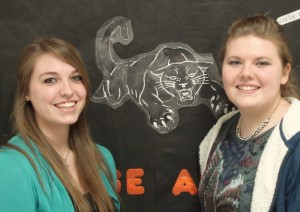(Courtesy photo) Katie Tobias (left) and Kortnie Bellury (right) were finalists at District Tournament.