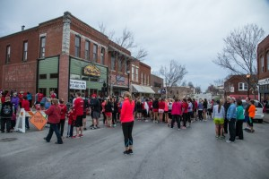 Racers fill Holden street in front of Molly's.