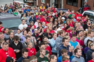 Some of the over 200 people participating in the Blaine Whitworth Memorial 5K.