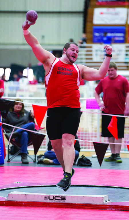 Senior Zak Thompson finished fifth in the discus and got a provisional qualifying mark at the Pittsburg State Classic Saturday. He got sixth in the shot put. (Photo by ANDREW MATHER, Photo Editor)