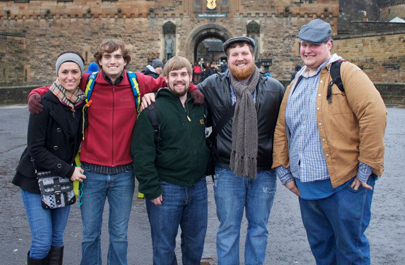 Members of the Talking Mules debate team spent spring break in the UK earning the Montgomery Cup. (Photo submitted)