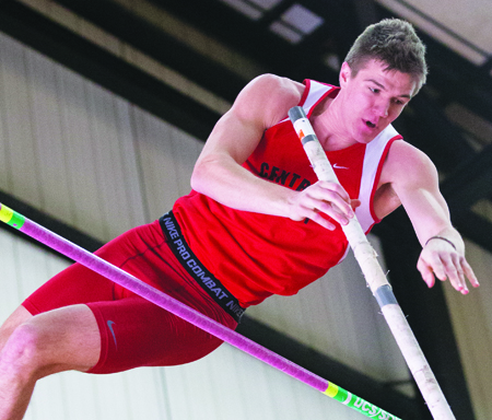 Senior Brent Vogel and the Central Missouri track teams will travel to Hays, Kan., for the MIAA Championships this weekend. (Photo by ANDREW MATHER, Photo Editor)