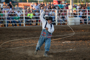 (Photo by ANDREW MATHER, digitalBURG) Tuffy Gessling performs at the Johnson County Fair in July.