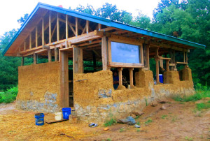 (Photo by Kelsey Harmon) Mike and Andrea Reinhardt are building a home south of Warrensburg using the cob building method.