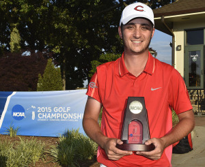 Sam Migdal became the first player in Mules golf history Wednesday to claim the individual national championship.