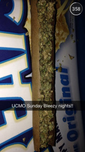 PHOTO SCREENSHOT FROM UCMO_SNAPS Users submitted photos of illicit activity, such as drug use, partying and nude photos.