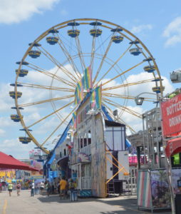 PHOTO BY CASSIE SLANA / SENIOR WRITER The carnival midway is open every day durning the Missouri State Fair's 10-day run.